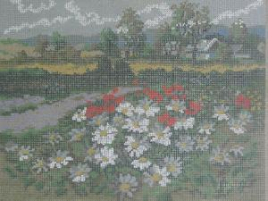 AMC 27838 Orient-Wolle Wiese Mit Mohnblumen(Meadow of Poppies) Needlepoint Canvas
