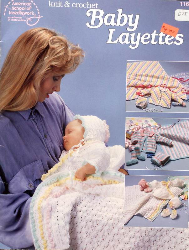 American School of Needlework 1165 Knit & Crochet Baby Layettes