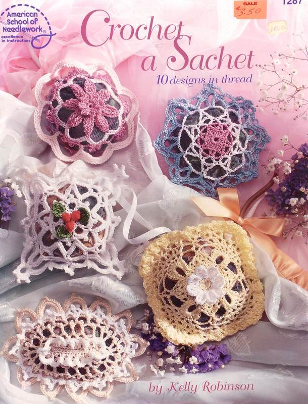American School of Needlework 1287 Crochet A Sachet