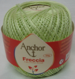 Anchor Freccia 259 Peridot Size 10 Crochet 100% Mercerized Cotton