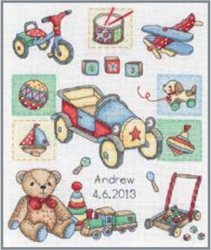 Anchor Kit ACS39 Boy Birth Announcement Counted Cross Stitch Kit
