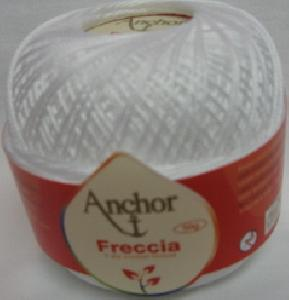 Anchor Freccia 7901 White Size 5 Crochet Thread 100% Mercerized Cotton