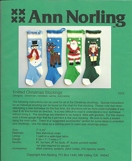 Ann Norling 1013 Knitted Christmas Stockings