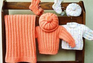 Ann Norling 36 Infant Set 1 in #2 sport weight yarn. Newborn to 12 months.
