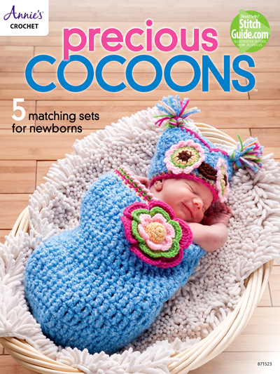 Annie's Crochet Precious Cocoons 5 Matching Sets for Newborns
