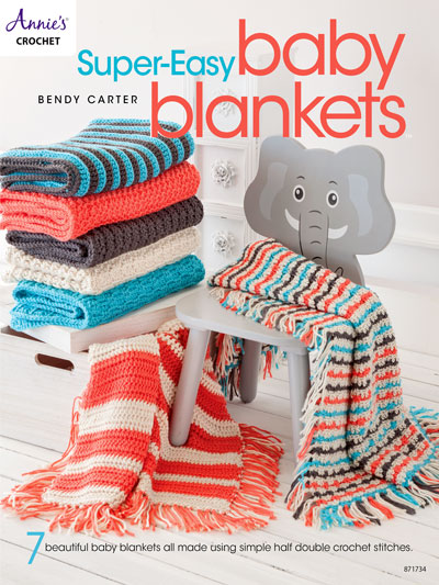 Annie's Crochet 871734 Super-Easy Baby Blankets by Bendy Carter