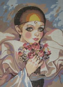 Collection D'Art 11.174 Pierrot Needlepoint Canvas