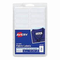 Avery No-Iron Fabric Labels 40720 54 Labels/package