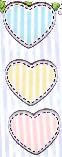 Bazooples Hearts Buttons BZ131