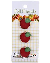 "Buttons Galore & More Apples #124 Fall Friends Collection 1""/2.5 cm"