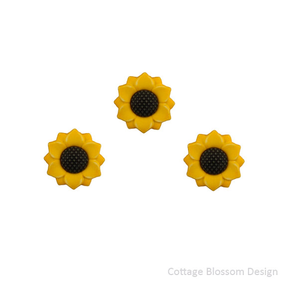 "Buttons Galore & More Sunflowers #122 Fall Friends Collection 1""/2.5 cm"