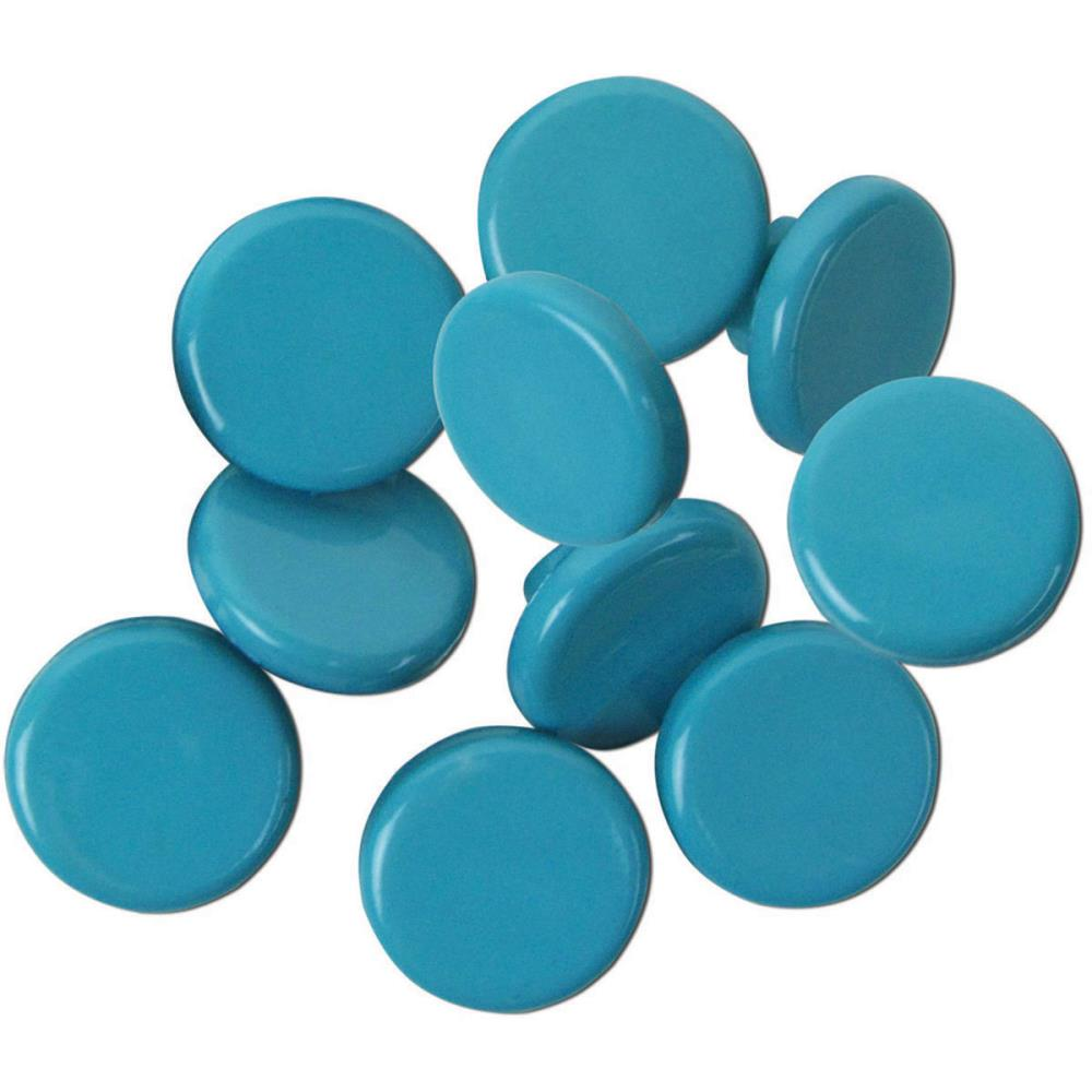 "Cardigan Turquoise Buttons 3/8""/9 mm 9/Pkg"
