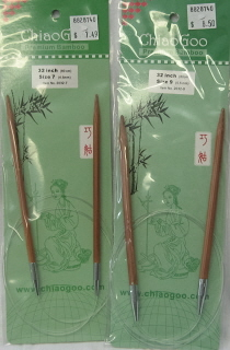 "ChiaoGoo 32""/80 cm 3.50 mm/US 4 Bamboo Circular Needle"