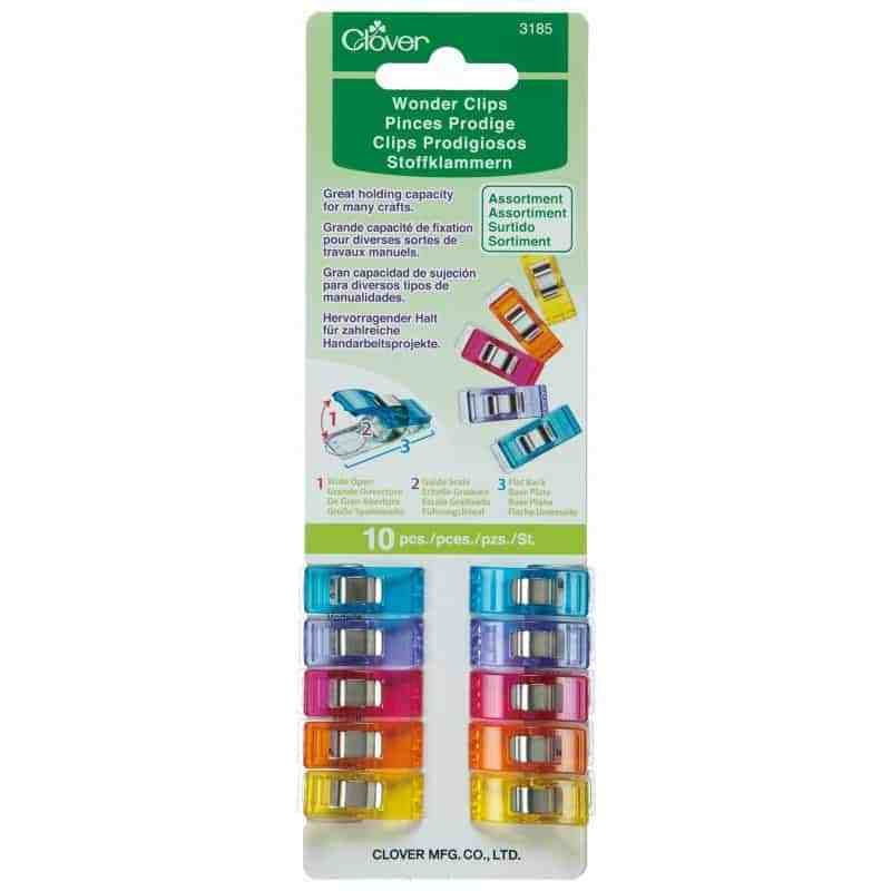 Clover Wonder Clips 3185 10 Piece