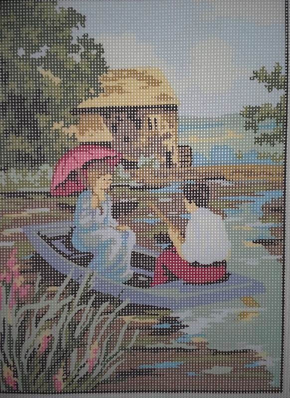 Collection D'Art 6049 Romantic Boat Ride Needlepoint Canvas