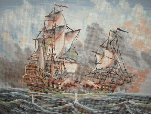 Collection D'Art 11.473 Clipper Ships Needlepoint Canvas