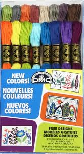 DMC Floss 16 New Colors Pack. 6 Strand Embroidery-Made with 100% long staple cotton. Double mercerized. Brilliant six-strand divisible thread.