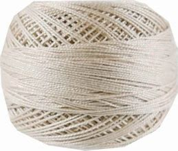 DMC Pearl Cotton 12 842 Very Light Beige Brown 10 gram ball 100% Cotton