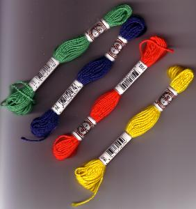 DMC Matte Tapestry Cotton-This is a very thick thread and soft thread used for needlepoint.