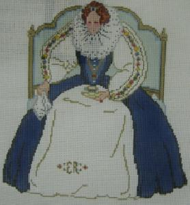Designing Women Unlimited 705 Queen Elizabeth Needlepoint Canvas