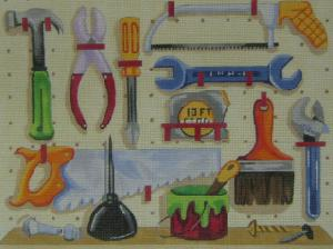 Handpainted Needlepoint Canvas 3332 Tools