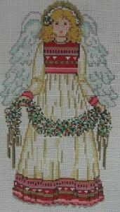 Designing Women Unlimited 1173 Folk Art Angel Needlepoint Canvas