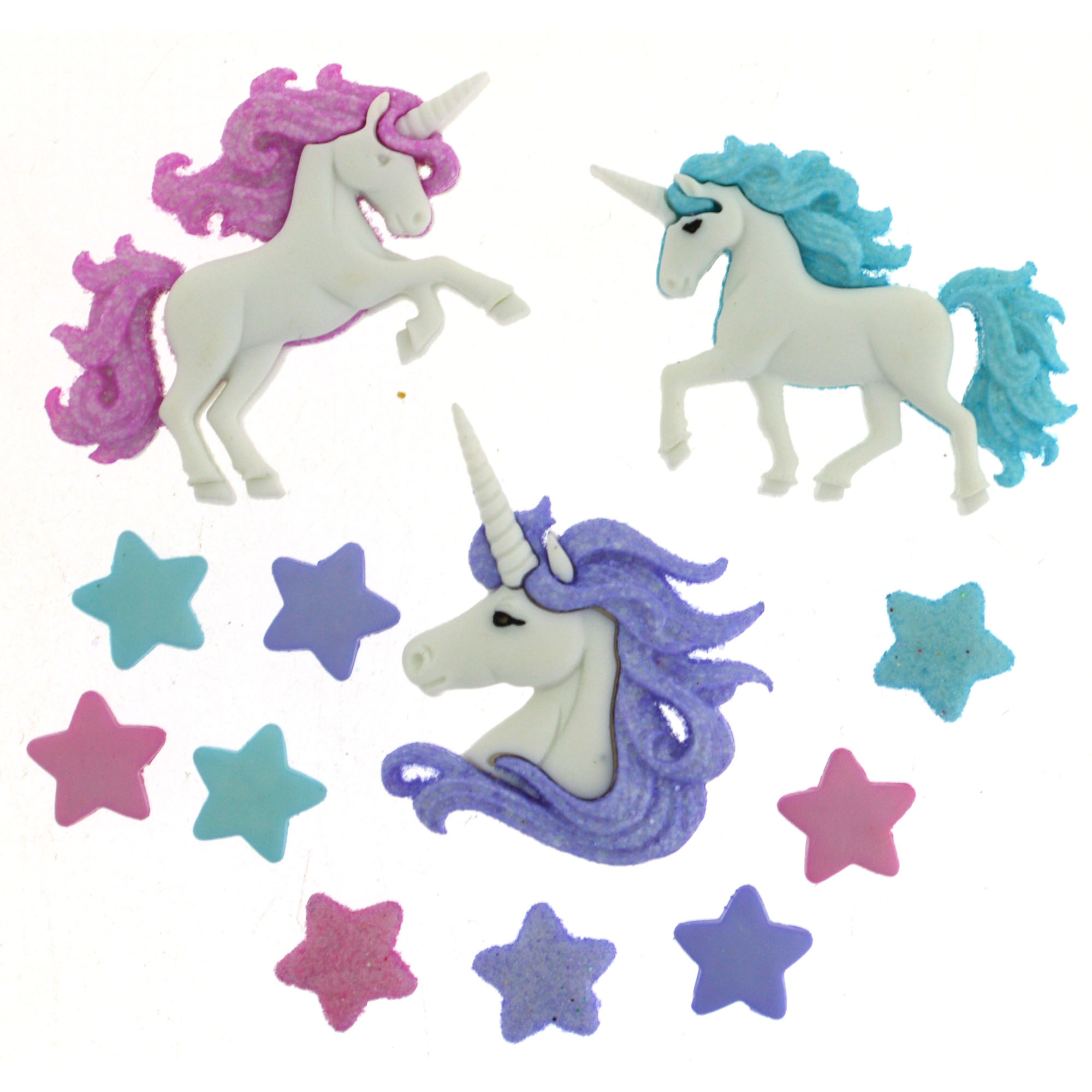 Dress It Up Magical Unicorns 9357 Little Girl Collection Buttons