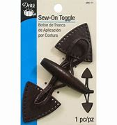 Dritz Sew On Toggle Brown #454-11