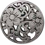 Elan 15 2058Q Pewter Look Round Flower Shank Button (3/card)
