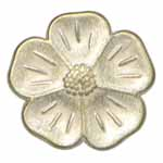 Elan 15 8993R Silver Flower Shank Button (3/card)
