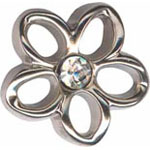 Elan 24 9602V Silver Flower Shank Button(2/card)