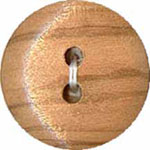 Elan 30 2435A 2 Hole Wood Button (3/card)