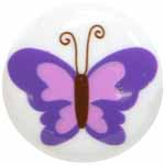 Cirque 95 2515R Purple Butterfly Button (3/card)