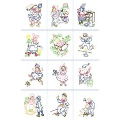 Fairway Nursery Rhymes Quilt Blocks Needlecraft Co 92328