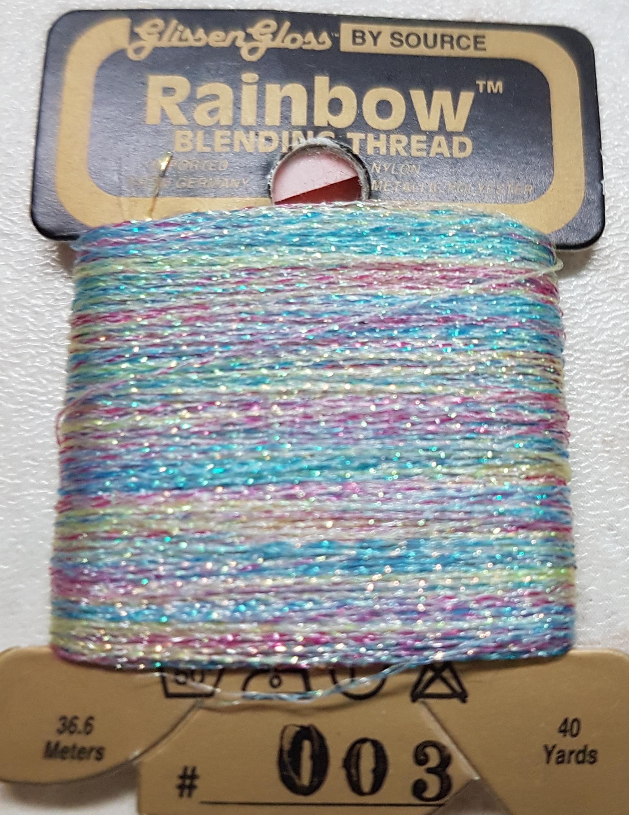 Glissen Gloss 003 Iridescent White Flame Rainbow Blending Thread 003 Iridescent White Flame
