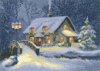Heritage Stitchcraft JCXC1100 Christmas Cottage by the John Clayton Collection (X Stitch Pattern Only)
