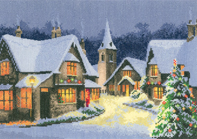 Heritage Stitchcraft JCXV1244 Christmas Village by the John Clayton Collection (X Stitch Pattern Only)