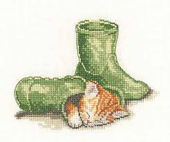 Heritage Stitchcraft LDCH1238 Cat in Hat (X Stitch Pattern Only)