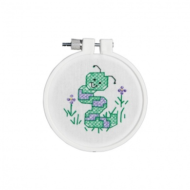 Janlynn Wiggley the Worm #021-0989 DFN's Cross Stitch for Kids Stamped Cross Stitch