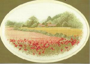 Heritage Stitchcraft JCPF254 Poppy Farm (X Stitch Pattern Only)