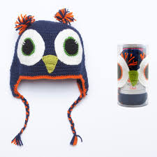 Katia Owl Hat Kit 74 Navy with Acrylic