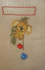 Koala Bear Christmas Stocking 2636 Needlepoint Canvas