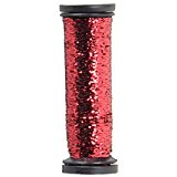Kreinik Blending Filament 003HL Red Hi Lustre 50 meters/55 yards per spool