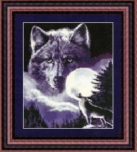 Kustom Krafts Inc. DAW 008 Spirit of the Wolf (X Stitch Pattern Only) designed by Dyan Allaire