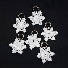 Lantern Moon Snowflake Stitch Markers (Handcrafted)
