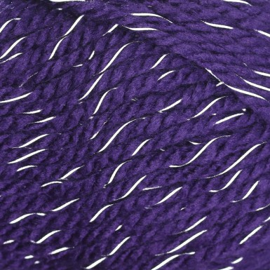 Schachenmayr Lumio Fine 149 Violet Acrylic and Other Fibers that Reflect in the Dark