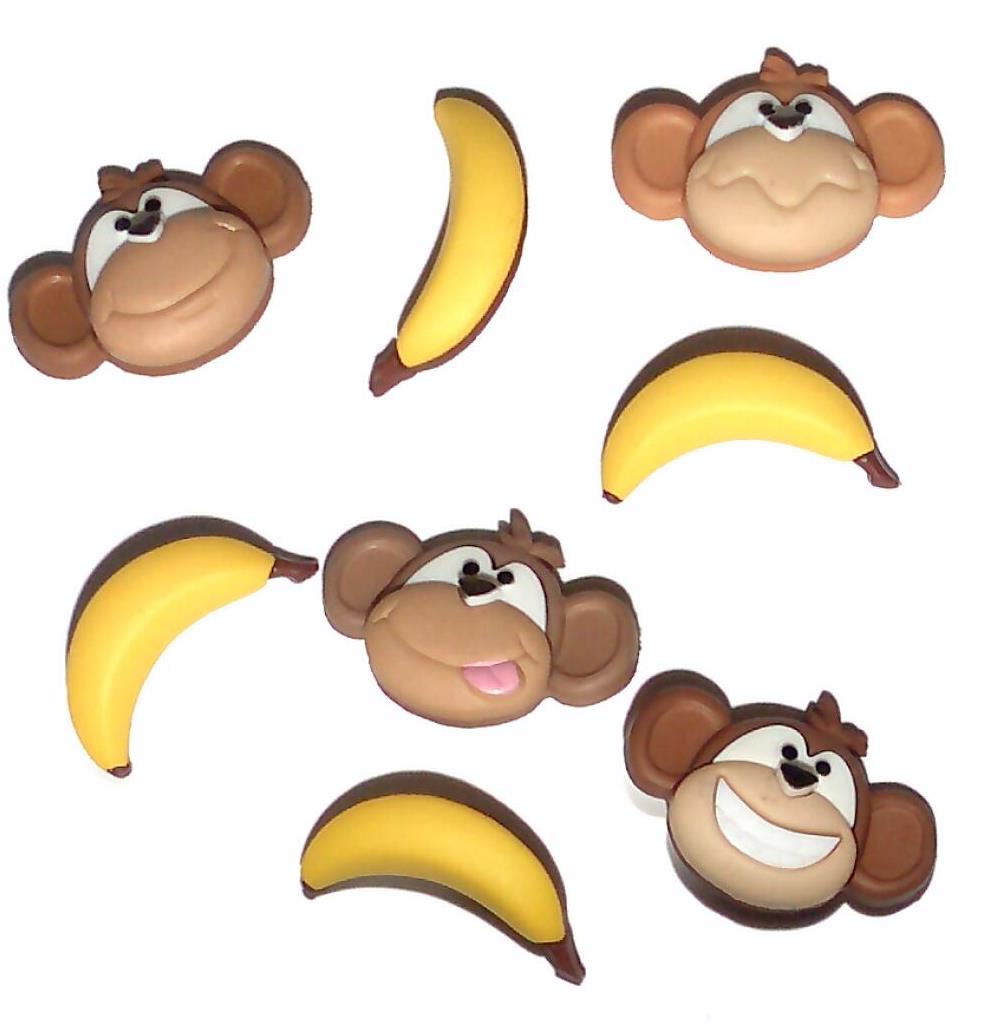 Dress It Up Monkey See Monkey Do Buttons