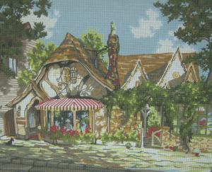 Pegasus Originals Inc. 812 Tuck Box Tea Room by Marty Bell Needlepoint Canvas