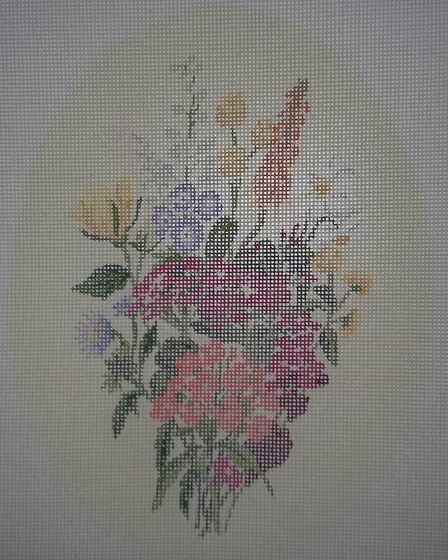 Penelope MC 152-3a Botanical Florals Needlepoint Canvas