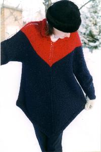 Cabin Fever 604 Knit Poncho Pullover